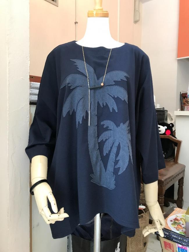 半袖が苦手なあなたへ  新着椰子の木柄のTシャツ