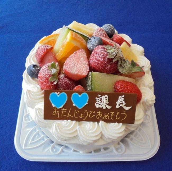 最近のデコレーションケーキ