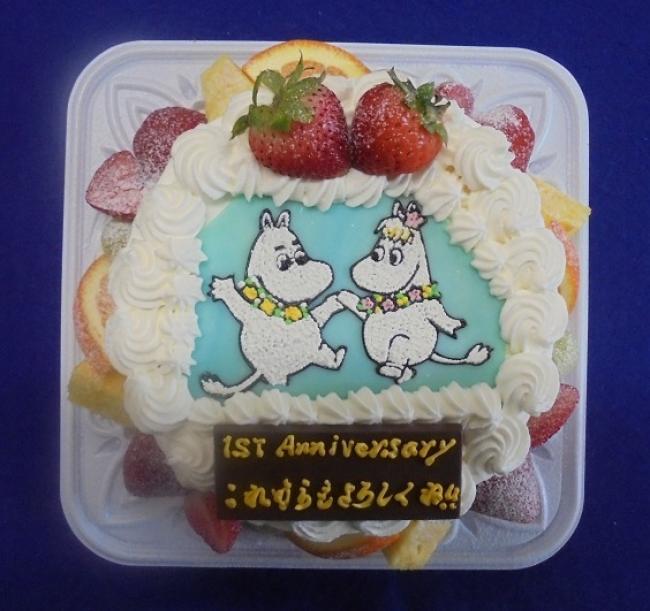 イラストケーキ【ムーミンとフローレン】