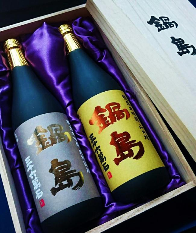鍋島 純米大吟醸 2本 木箱入り