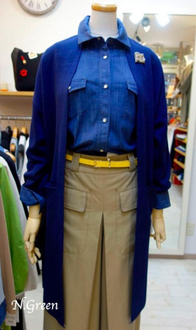 春コート代わりに着れるロングカーデ