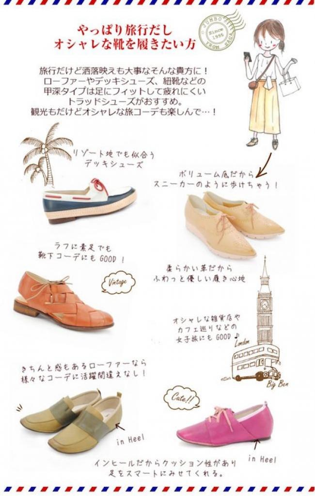 「やっぱり旅行だし、オシャレな靴を履きたい!!」